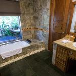 Honeymoon Bungalow en suite bathroom Pilgrimage Village