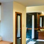 Honeymoon Pool Hut bathroom Pilgrimage Village