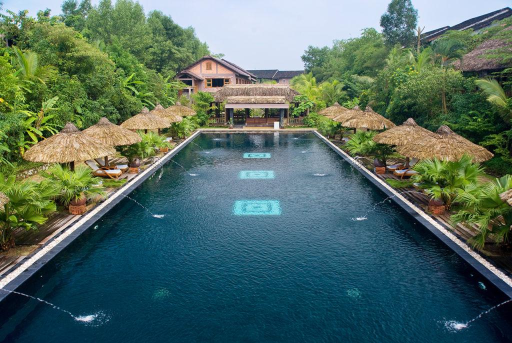 Galleries pilgrimage village boutique resort spa for Garden pool hanoi